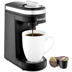 CHULUX Single Serve Coffee Maker, Personal Coffee Brewer Machine for Single Cup Pods & Reusa ...