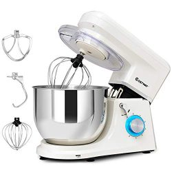 COSTWAY Stand Mixer, 7.5-Quart 660W 6-Speed Electric Mixer with Stainless Steel Bowl, Tilt-head  ...