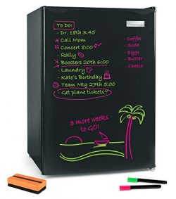 Igloo IRF26EBBK Dry Eraser Board Refrigerator, Freezer, Removable & Adjustable Glass Shelves ...