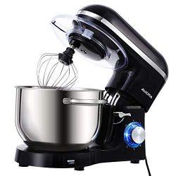Aucma Stand Mixer,6.5-QT 660W 6-Speed Tilt-Head Food Mixer, Kitchen Electric Mixer with Dough Ho ...