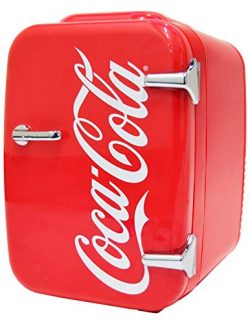 Coca-Cola Vintage Chic 4L Cooler/Warmer Mini Fridge by Cooluli for Cars, Road Trips, Homes, Offi ...