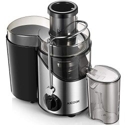"Juicer, Aicook Upgrade Juice Extractor with 3"" Wide Mouth, 3 Speed Centrifugal Juicer Mach ..."