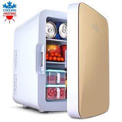 Mini Fridge with Cooler and Warmer, 10 Liter Large Capacity Portable Compact Fridge, Mini Refrig ...
