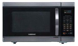 Farberware Black FMO11AHTBSJ 1.1 Cu. Ft 1100-Watt Microwave Oven with Smart Sensor Cooking, Inve ...