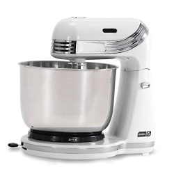 Dash Stand Mixer (Electric Mixer for Everyday Use): 6 Speed Stand Mixer with 3 qt Stainless Stee ...