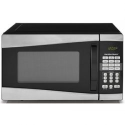 Hamilton Beach EM925AJW-P1 .9 cu ft 900W Microwave,Stainless Steel Black/Silver