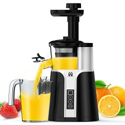 Juicer Machines, Vestaware Slow Masticating Juicer Extractor, Easy to Clean Juicer with Quiet Mo ...