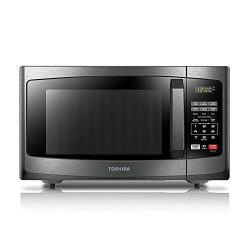 Toshiba EM925A5A-BS Microwave Oven with Sound On/Off ECO Mode and LED Lighting, 0.9 Cu.ft, Black ...