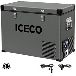 ICECO VL45 Portable Refrigerator for RV, Truck, Van, Portable Freezer Fridge, Car Electric Coole ...