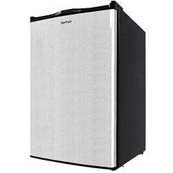 Northair Upright Freezer with 3.0 Cubic Feet Capacity, Compact Reversible Single Door Vertical F ...