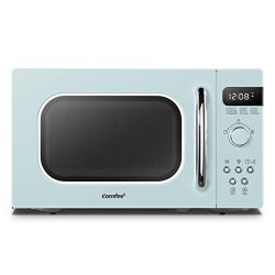 COMFEE' AM720C2RA-G Retro Style Countertop Microwave Oven with 9 Auto Menus Position-Memor ...