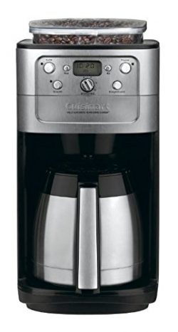 Cuisinart DGB-900BCFR Burr Grind and Brew Thermal 12 Cup Automatic Coffeemaker, Brushed Chrome ( ...