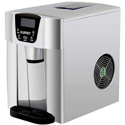 KUPPET 2 in 1 Countertop Ice Maker Water Dispenser, Ready in 6min, Produces 36 lbs Ice in 24 Hou ...