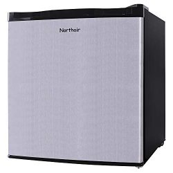 Northair Upright Freezer with 1.1 Cubic Feet Capacity, Compact Reversible Single Door Table Top  ...