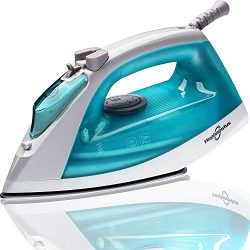 Hephaestus Steam Iron 1200 Watt Nonstick Teflon Soleplate Light Weight Small Travel Size Spray S ...