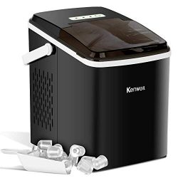 Kenwell Portable Ice Maker, Countertop Ice Machine with Self-clean Function, Ready in 8min, 26 l ...