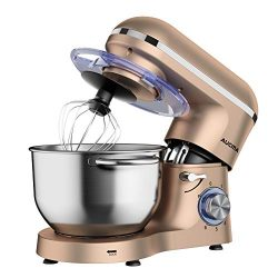 Aucma Stand Mixer,6.5-QT 660W 6-Speed Tilt-Head Food Mixer, Kitchen Electric Mixer with Dough Ho ...