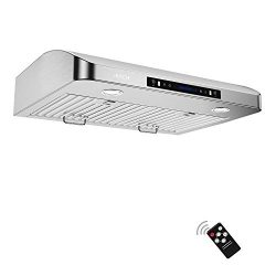 IKTCH 30 Inch Under Cabinet Range Hood Stainless Steel Kitchen Stove Vent, 900 CFM, 2pcs Adjusta ...