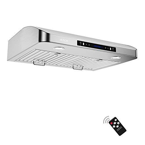 IKTCH 30 Inch Under Cabinet Range Hood Stainless Steel Kitchen Stove Vent, 900 CFM, 2pcs Adjusta ...