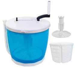 Portable Stacked Washer and Dryer Combo Mini Manual Washing Machine All in One Non-Electric Comp ...