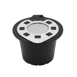 Hot Sale!DEESEE(TM)Refillable Reusable Coffee Capsules Pods For Nespresso Machines Filter (B)