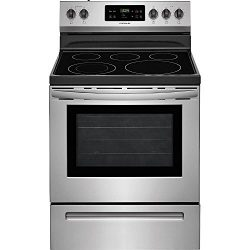 Frigidaire FFEF3054TS 30 Inch Electric Freestanding Range with 5 Elements, Smoothtop Cooktop, 5. ...
