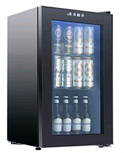 KUPPET 80-Can Beverage Cooler and Refrigerator,Mini Fridge for Home, Office or Bar with Glass Do ...