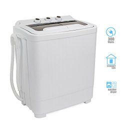 Barton Portable Compact Washer & Spin Dry Cycle Timer Top Load Washing Machine w/Built in Dr ...