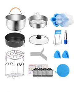 Fopurs 6 Quart Pressure Cookers Accessories Set, Compatible with Instant Pot 6 Qt, Steamer Baske ...