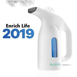 RAINBEAN Portable Garment Steamer for Clothes,180ml Water Max Travel Handheld Powerful Fabric St ...