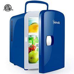 AstroAI Mini Fridge Portable AC/DC Powered Cooler and Warmer 4 Liter/6 Can for Cars, Homes, Offi ...