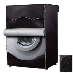 Washing Machine Cover/Dryer Cover,Fit for Most 4-4.5 Cu.Ft Front-loading Machine,Cover on 4 Side ...