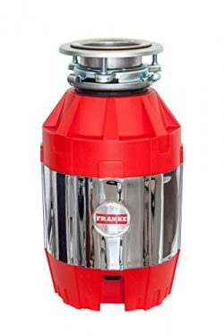 Franke FWDJ75 3/4 HP Disposer 2, 14.6 x 9 x 12.5, Red/Silver