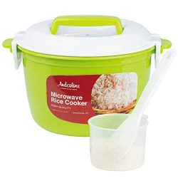 Andcolors Microwave Rice Cooker Steamer – Complete Set – Makes 2 to 4 servings ̵ ...