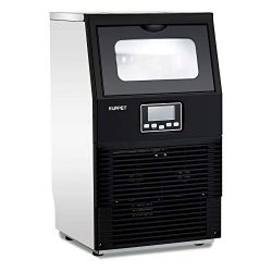 KUPPET Stainless Steel Commercial Ice Maker,Portable Ice Cube Maker Machine,Under Counter/Free ...
