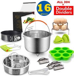 Instant Pot Accessories Set Compatible with Instant Pot 6,8 Qt 16 Pcs – Steamer Basket, Ex ...