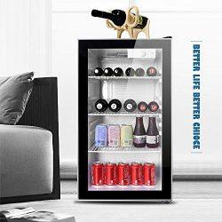Northair Beverage Refrigerator and Cooler Under Counter – 28 Bottle Freestanding Wine Chil ...
