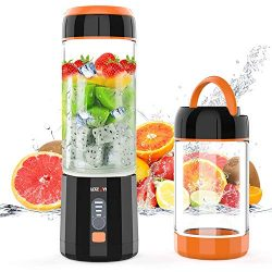Portable Blender, LOZAYI Small Personal Blender Travel USB Rechargeable Juicer Cup for Shakes an ...
