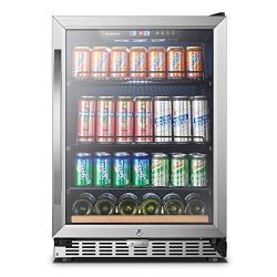 24 Inch 110 Cans Built-in Beverage Refrigerator