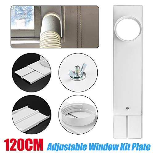 Wulidasheng Portable Air Conditioner Window Kit Plate & Exhaust Hose Connector, Adjustable W ...