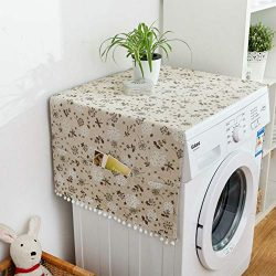 MF2FLAY Fridge Dust Proof Cover Multi-Purpose Washing Machine Top Cover with 6 Refrigerator Stor ...