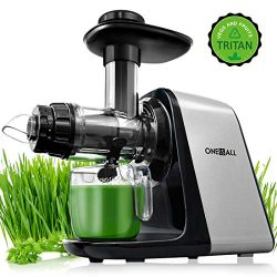 Juicer Machines, Oneisall Slow Masticating Juicer Extractor Easy to Clean, Tritan & BPA-Free ...