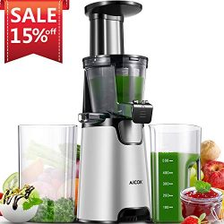Juicer, 2019 Upgrade, Aicok Slow Masticating Juicer with 3 Filters, Quiet Motor, Reverse Functio ...