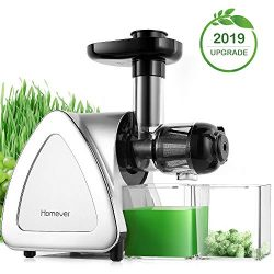 Juicer Machines, Homever Slow Masticating Juicer Extractor Easy to Clean, Cold Press Juicer for  ...