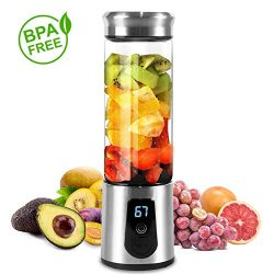 Portable Blender, Smoothie Blender, Electric Shaker Bottle, 3 in 1 Cordless Personal Blender Jui ...