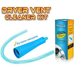 PetOde Dryer Vent Cleaner Kit Dryer Vent Vacuum Attachment Lint Remover Power Washer and Dryer V ...