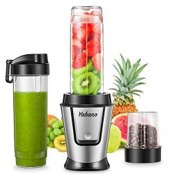 Personal Blender, Portable Smoothie Blender with 2 x 20oz Travel Bottle, 500W Single Serve Blend ...