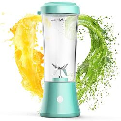 LaHuko Portable Blender Personal Size Blender Juicer Cup for Juice Crushed-ice Smoothie Shake, T ...