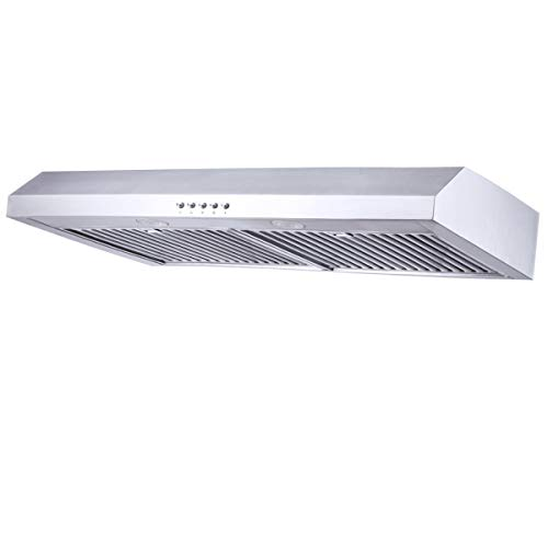 Range Hood 30 inch,Kitchenexus Stainless Steel 300CFM Ducted/ductless Under Cabinet Kitchen Vent ...