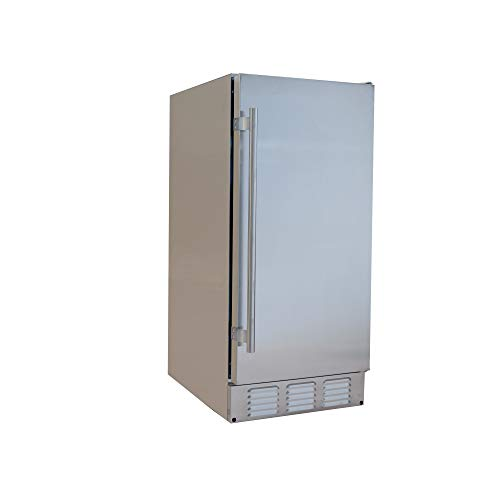 EdgeStar IB250SSOD 15 Inch Wide 20 Lbs. Built-in Outdoor Ice Maker with 25 Lbs. Daily Ice Produc ...